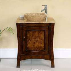 single bathroom vanity with vessel sink shop silkroad exclusive 26 in chestnut vessel