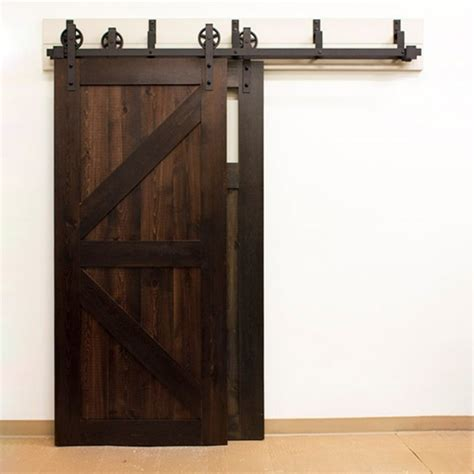 barn door rail kit winsoon 5 16ft bypass sliding barn door hardware