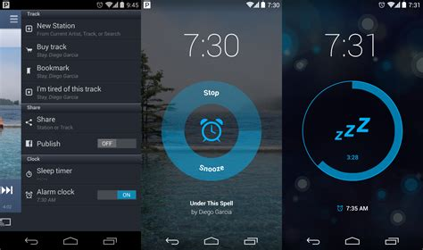 pandora app for android pandora for android gets an alarm clock