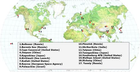 launch maps why are rockets launched from areas near the equator 187 science abc