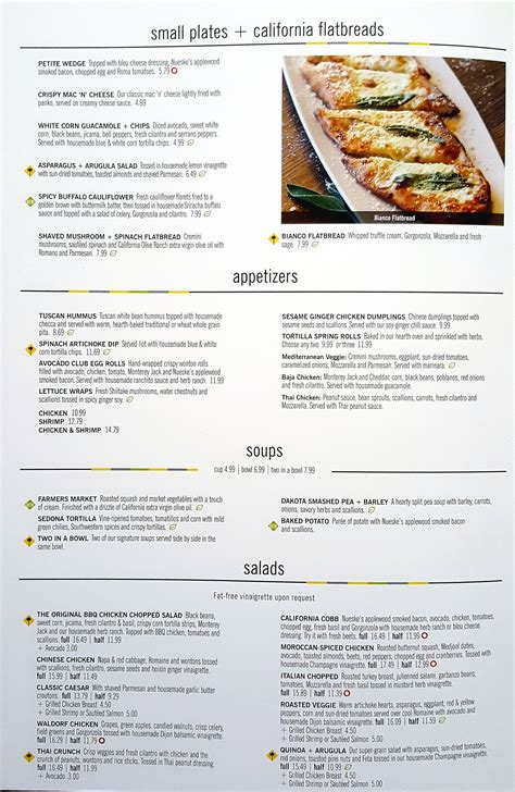 Kitchen Menu by California Pizza Kitchen Ka Makana Ali I Kapolei Preview