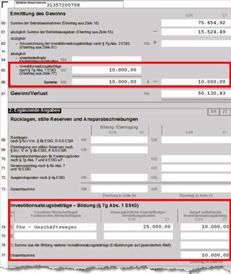 Kfz Versicherung Günstiger Ab 25 by Investitionsabzugsbetrag Und Sonderabschreibungen So