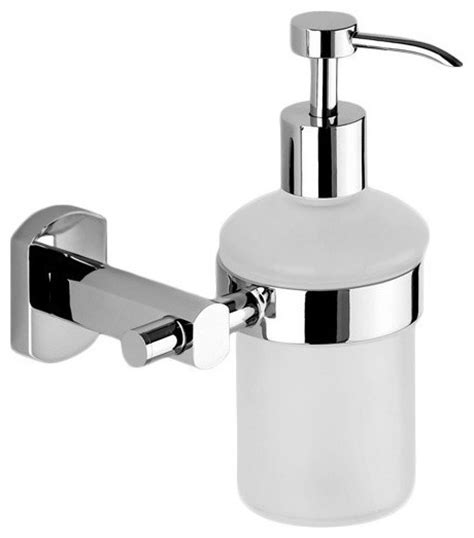 Unique Wall Mounted Frosted Glass Soap Dispenser Frosted Glass Bathroom Accessories