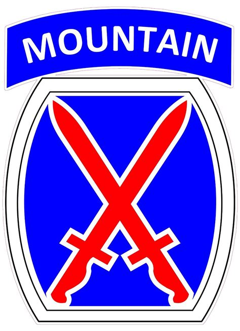 Kyle Cutting Sticker Us Army 10th Mountain Division u s army 10th mountain division decal nostalgia decals