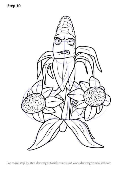 plants vs zombies garden warfare coloring pages sketch