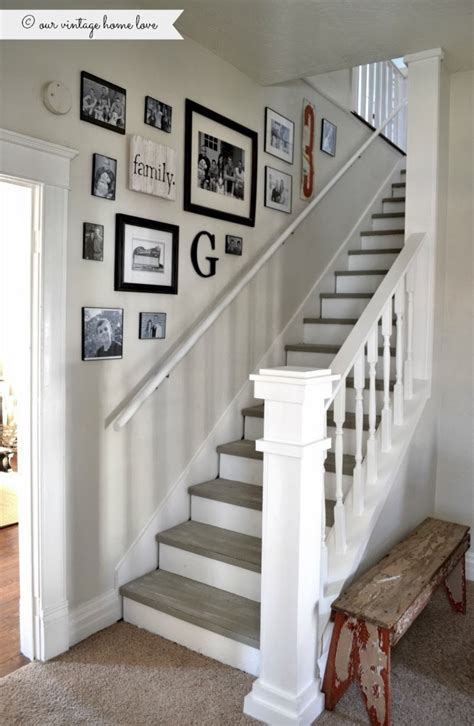how to attach banister to wall stairway renovation cut out wall and add spindles rail