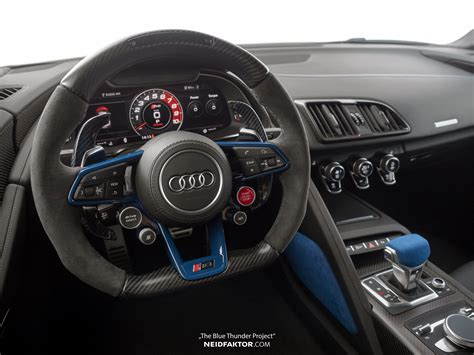 Audi R8 Innenraum by Audi R8 V10 Plus Quot Blue Thunder Quot Interior By Neidfaktor