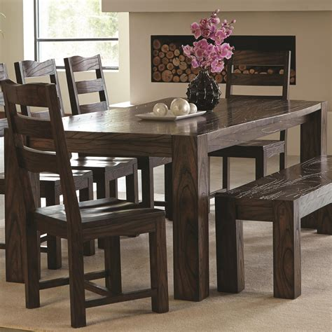 coaster calabasas 121151 contemporary dining table with