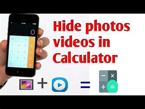 section id calculator hide photos and videos in calculator secure your files