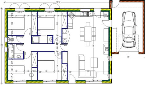 plan maison 100m2 plein pied 3 chambres plan maison plein pied 100m2 rectangle 102 messages page 4
