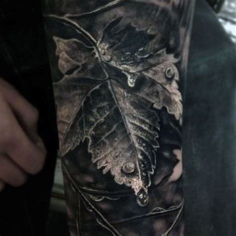 realistic tattoos for men 60 leaf designs for the delicate stages of