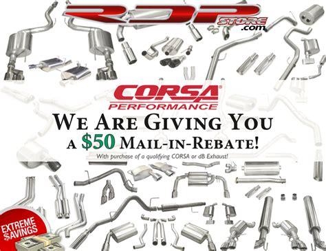 shipping rebate corsa exhaust specials free shipping rebates at rdp store