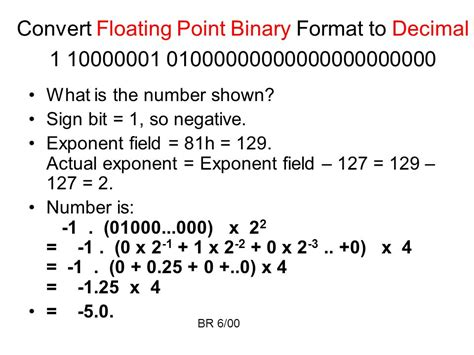 binary format converter floating point arithmetic ppt video online download