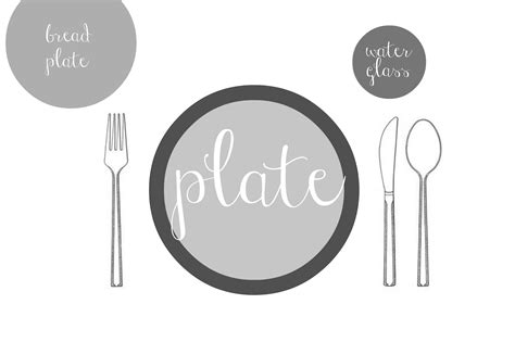 simple place setting basic table setting for kids images