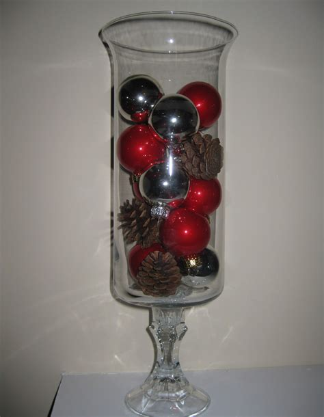 christmas home decor crafts dollar store glass hurricanes diy christmas decorations