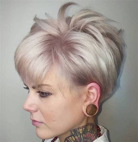 best short ash blonde hair style for older ladies ash blonde spiky pixie hairstyle top haircuts