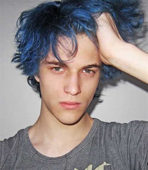 mens hair colour baby 15 guys with blue hair mens hairstyles 2017