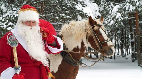 christmas wallpaper with horses santa claus with a horse wallpaper holiday wallpapers