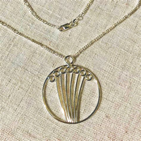 Handmade Silver Necklaces - field handmade silver pendant necklace bg silversmiths