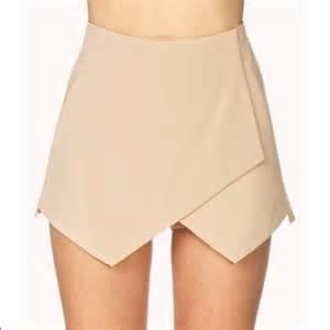 Origami Skorts - forever 21 forever 21 origami skort beige skirt from