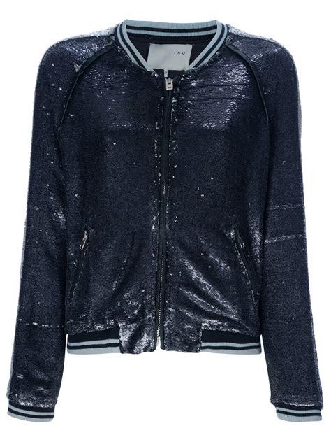Barbar A2 Bags Bambalina Barbar Black lyst iro barbara blue sequin bomber jacket in black