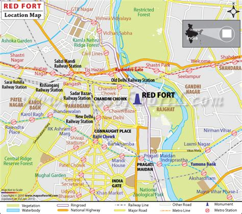 where is fort located in map fort delhi india map facts location history
