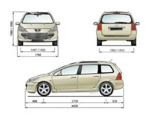 Peugeot 307 Dimensions Peugeot 307 Dimensions