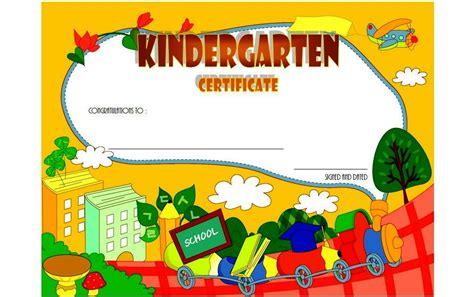 Kindergarten Diploma Template by Kindergarten Diploma Certificate Templates Best 10 Templates