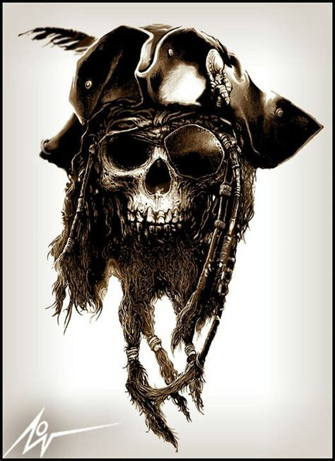 pirate skull tattoo pirate skull by christopher lovell pinteres