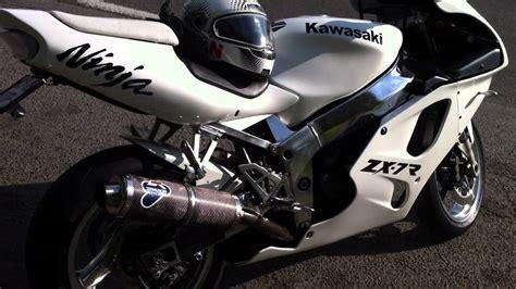 White Kawasaki by Custom White Kawasaki Zx 7r
