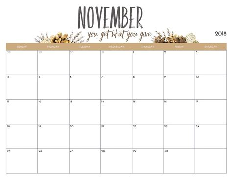 printable monthly calendar 2018 free download