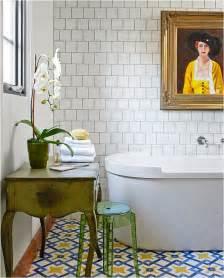 How To Install A Floating Bathroom Vanity Trending In Bathroom Decor Resurgence Of Encaustic Tile