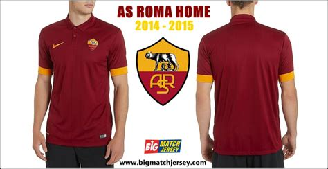 Kaos As Roma 3d jersey as roma home 2014 2015 big match jersey toko