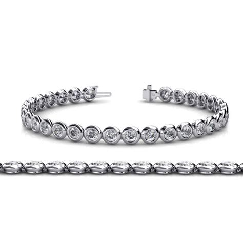 1 Ct Tw Tennis Bracelet by Bezel Set Tennis Bracelet Si2 I1 G H 5 12 Ct Tw