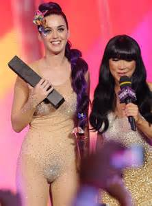 with pubic hair in see through cele bitchy was katy perry s costume change at the
