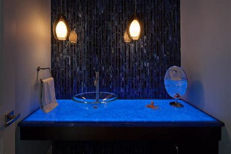 blue eclectic bathroom photos hgtv powder room with bright photo page hgtv