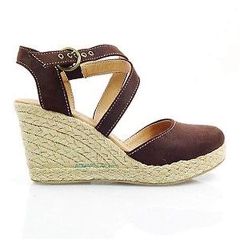 toe brown espadrille platform wedge ankle closed toe