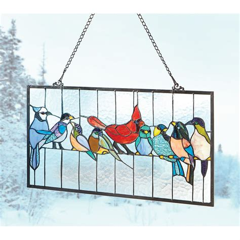 Panel Blinds Castlecreek North American Birds Stained Glass Window