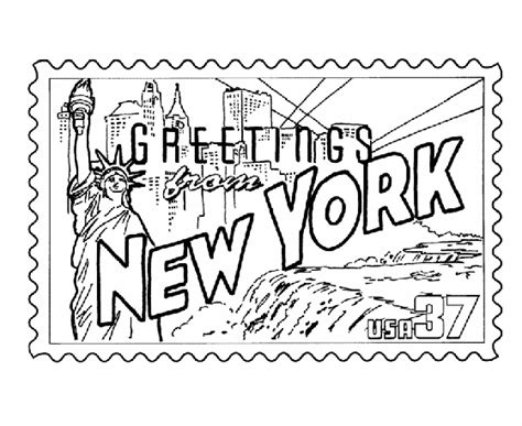 printable state postcards new york state st coloring page road trip
