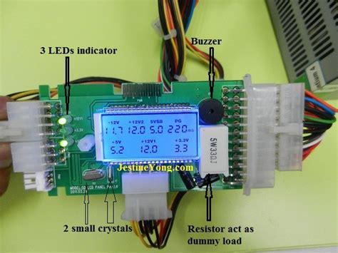 test alimentatore pc power supply test atx power supply