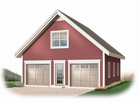 One Car Garage With Loft by Garage Loft Plans Detached 2 Car Garage Loft Plan 028g