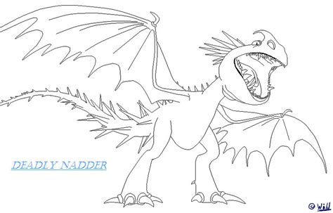 deadly nadder lineart by wildstrikethemaximal on deviantart