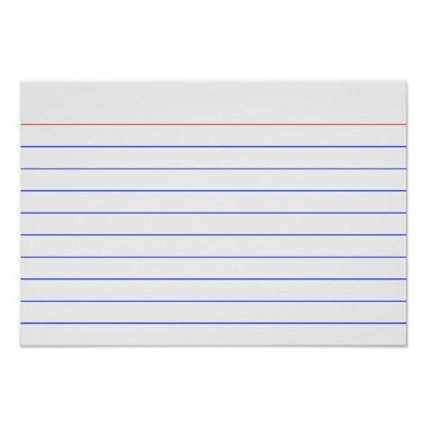 template to print 3x5 index cards 9 best images of printable index cards with lines