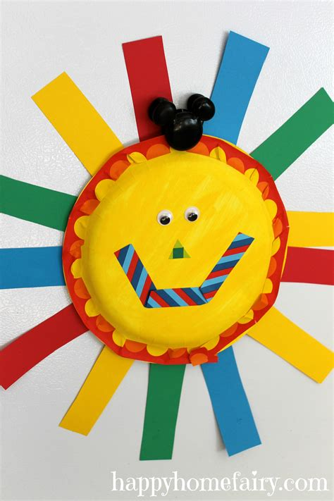 Sun Paper Plate Craft - easy summer sun paper plate craft happy home