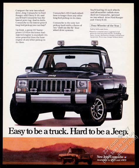 1986 jeep comanche black 1986 jeep comanche black truck photo vintage print