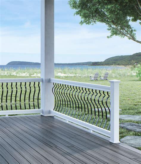 veranda railing veranda vinyl stair railing kit lowes porch railing