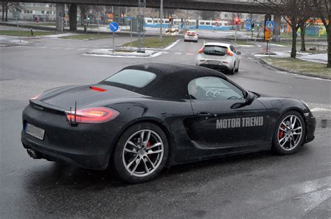 porsche prototype 2015 2015 porsche boxster gts prototype rear three quarter photo 1