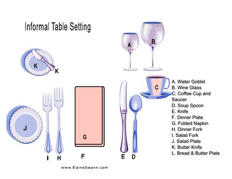 casual table setting image gallery informal table setting