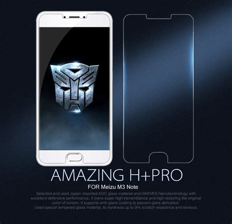 Meizu M3 Note Nillkin Tempered Glass nillkin amazing h pro tempered glass screen protector for