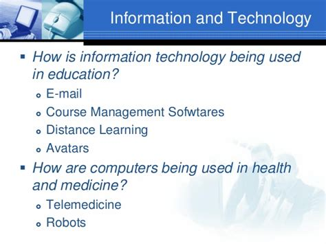 information technology report sle introduction to information technology lecture 1